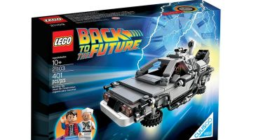 The DeLorean Time Machine set comes with Marty McFly and Doc Brown. Credit: LEGO Ideas