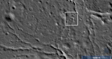 The skylights at the Moon's north pole were discovered by closely examining images taken by the Lunar Reconnaissance Orbiter . Credit: NASA/LRO/SETI Institute/Mars Institute