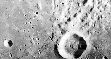 The Webb crater with it's raised rim . Credit: NASA