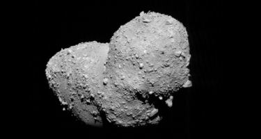 The asteroid Itokawa . Credit: JAXA