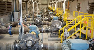 Inside the Southern Seawater Desalination Plant in Binningup . Credit: Water Corporation