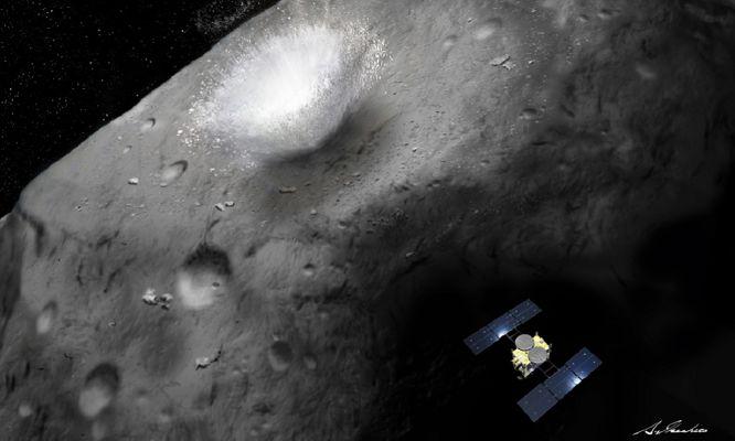 Inside an asteroid