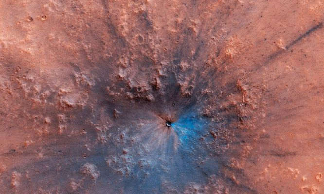 A crater impact from last year
