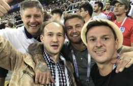 Сэм Трикетт и Патрик Леонард посетили ЧМ в России