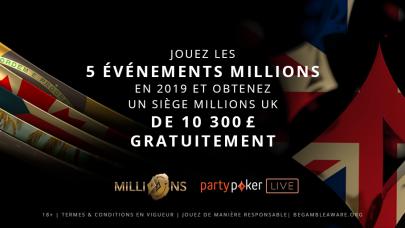 Récompense de Fidélité de la Tournée 2019 MILLIONS