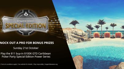 Elimine um profissional: Power Series edição especial Caribbean Poker Party