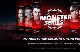 KO a Pro: Win MILLIONS Online Seat In Sunday Monster #03-L $50K Gtd