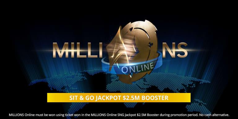 Бонус $2,500,000 для победителя MILLIONS Online