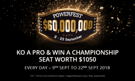 KO a Pro to win a POWERFEST Championship Ticket