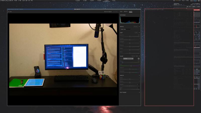 Screenshot of Lightroom running on i3