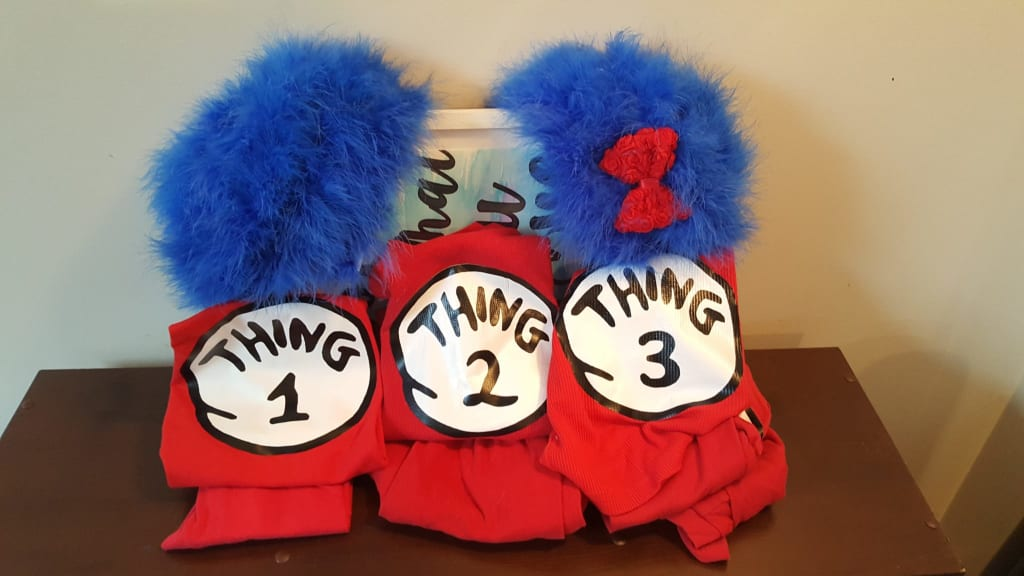 Thing 1 Thing 2 Wigs and Costumes