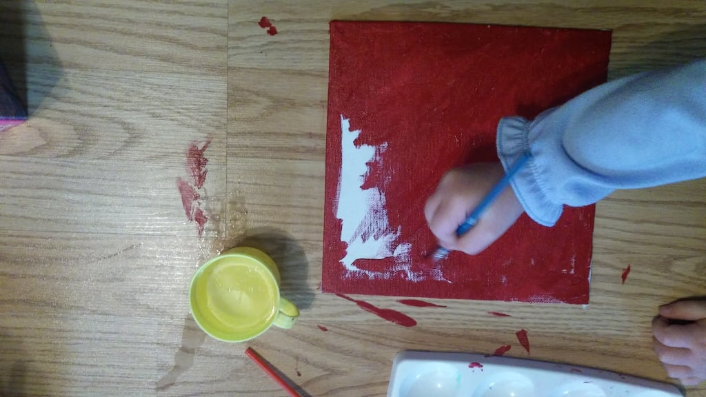 Toddler Painting Canvas Take three
