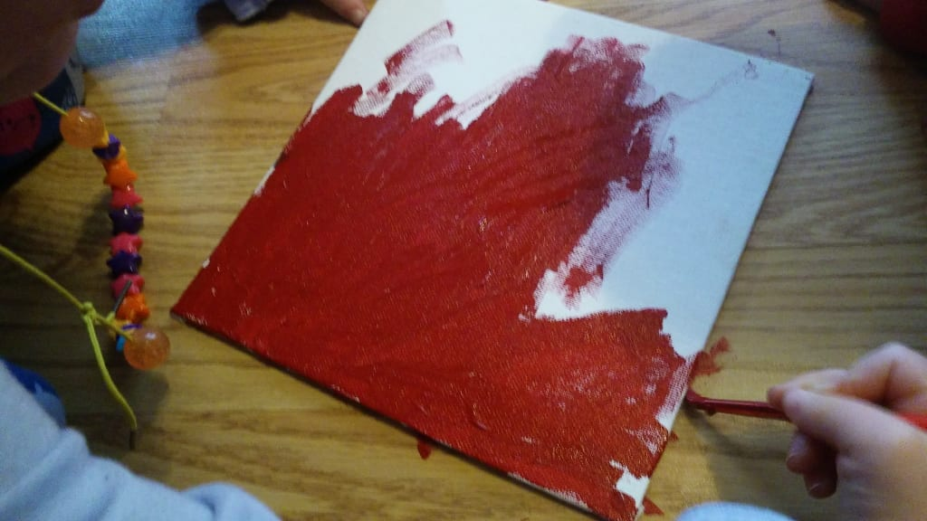 Toddler Painting Canvas Take Two