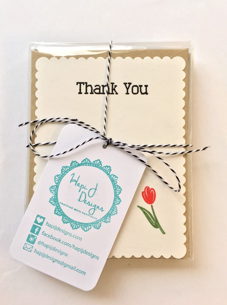 Thank you card-paper crafting