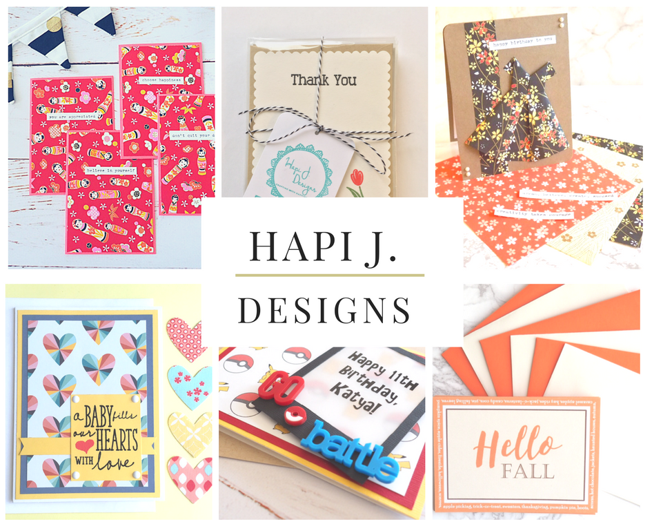 paper crafting at hapi j. designs