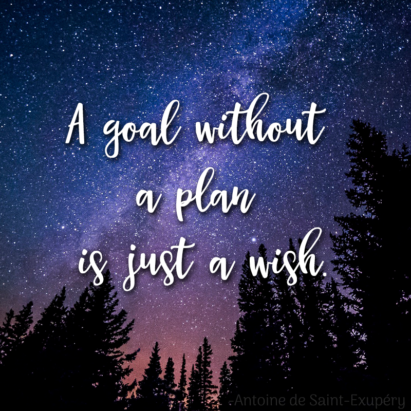A goal without a plan is just a wish #lifegoals