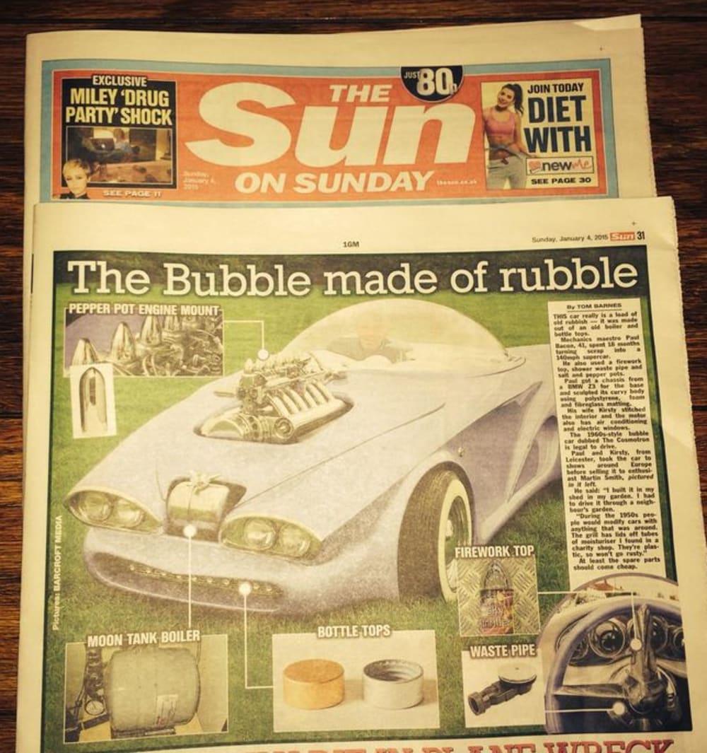 Timeline post: The Sun Newspaper