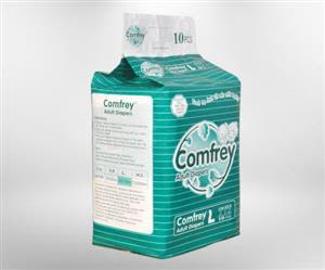 Comfrey Adult Diapers Large 10'S