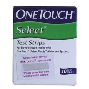 One Touch Select Sugar Test Strips 10'S