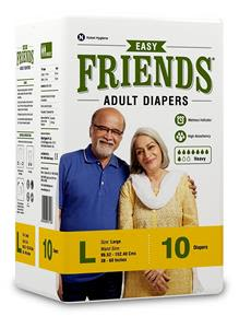 Friends Adult Diaper Large 10S