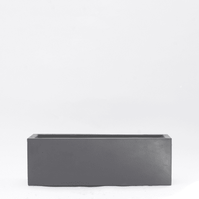 Black polystone trough