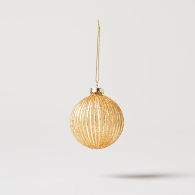 Ribbed Glass Bauble