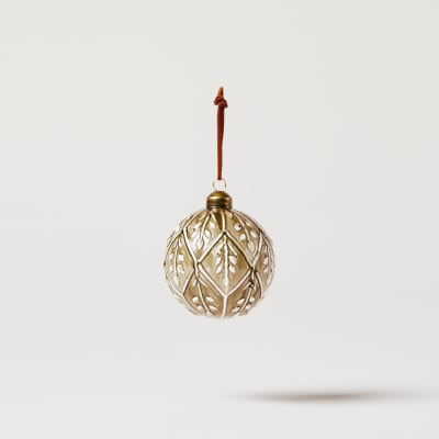 Lacquered Patterned Bauble