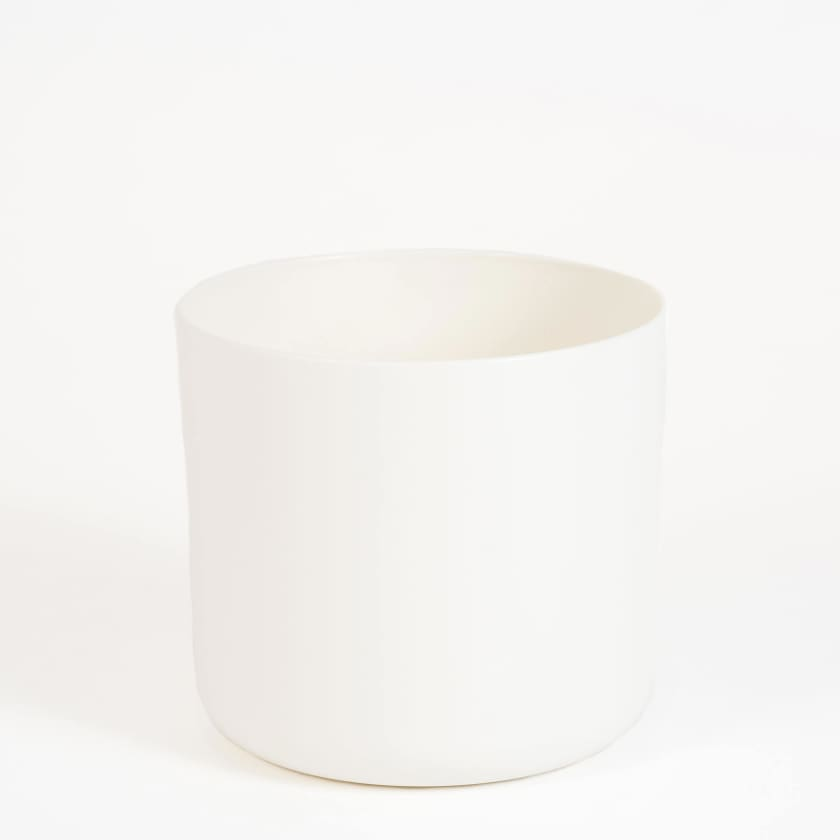 Medium White Plant pot on white background