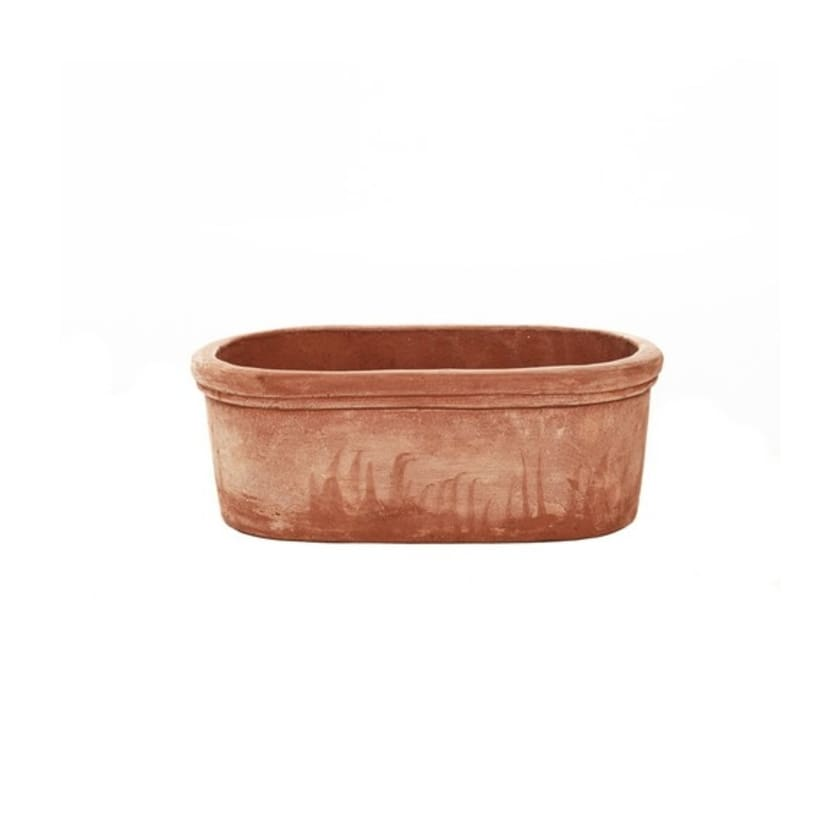 Oval terracotta pot