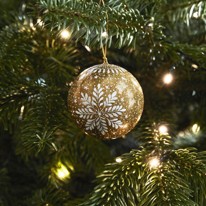 Gold Christmas Tree Bauble For My Boyfriend