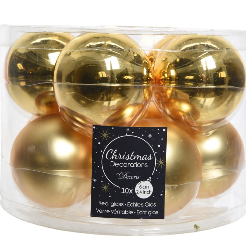 Gold hanging bauble Christmas decoration