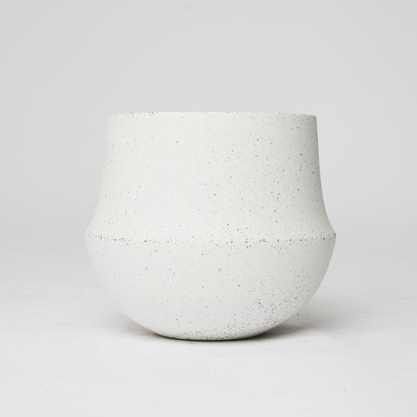White wave plant pot