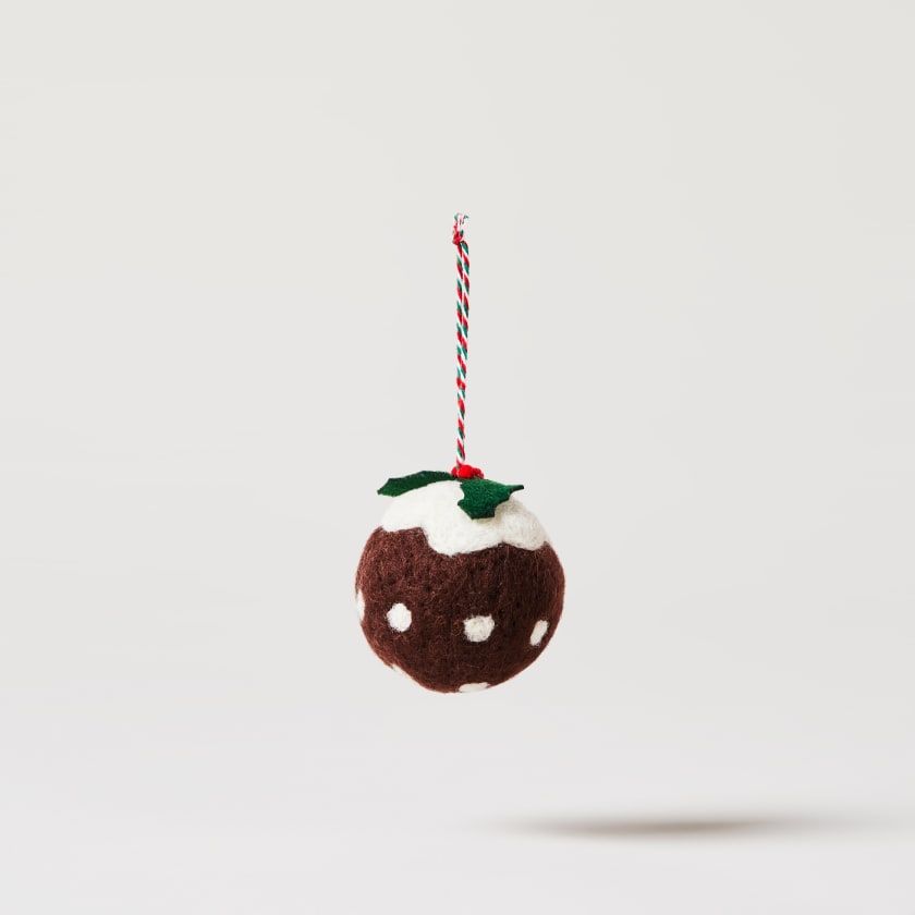Wool Christmas pudding