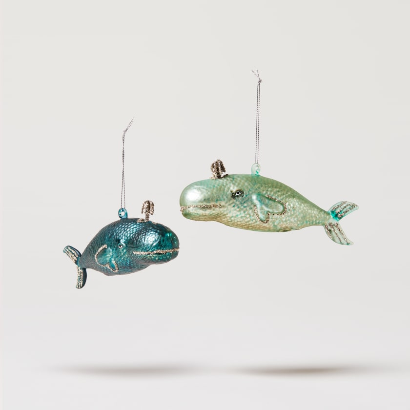 glass victorian whale