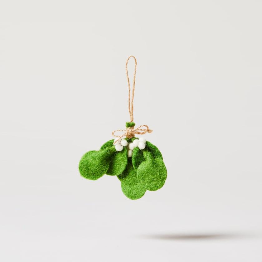 felt mistletoe sprig