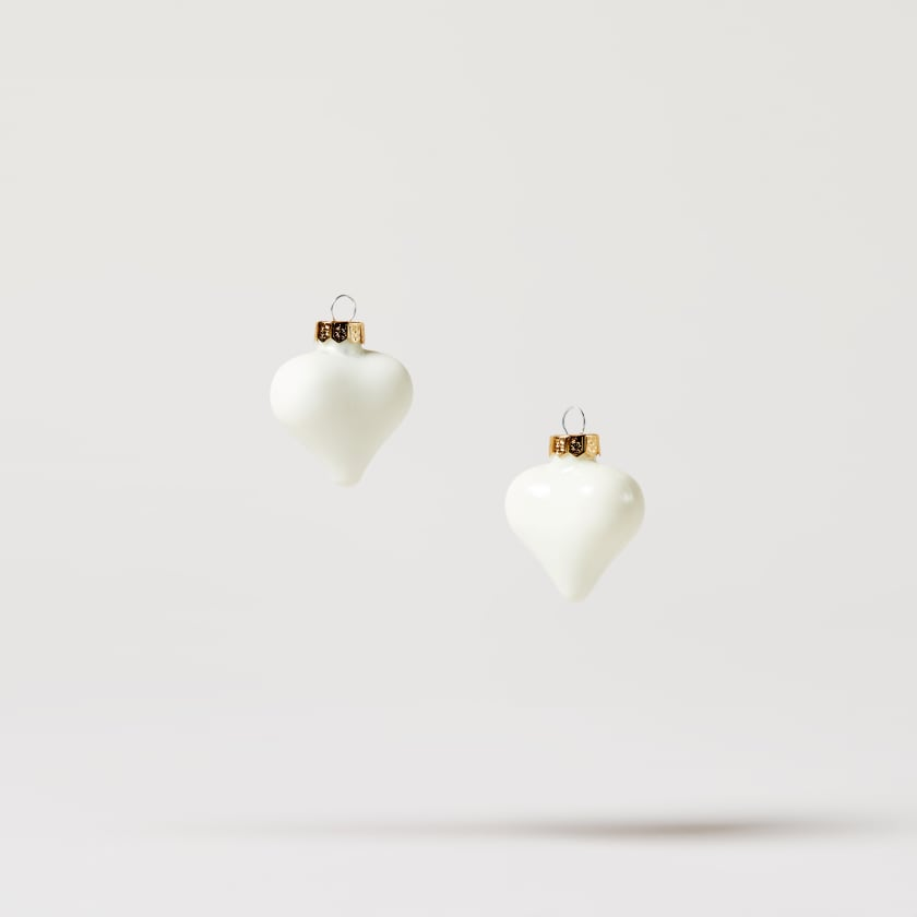 mini heart baubles