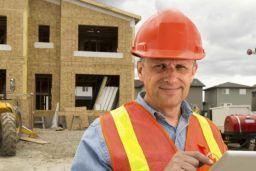 Older construction worker