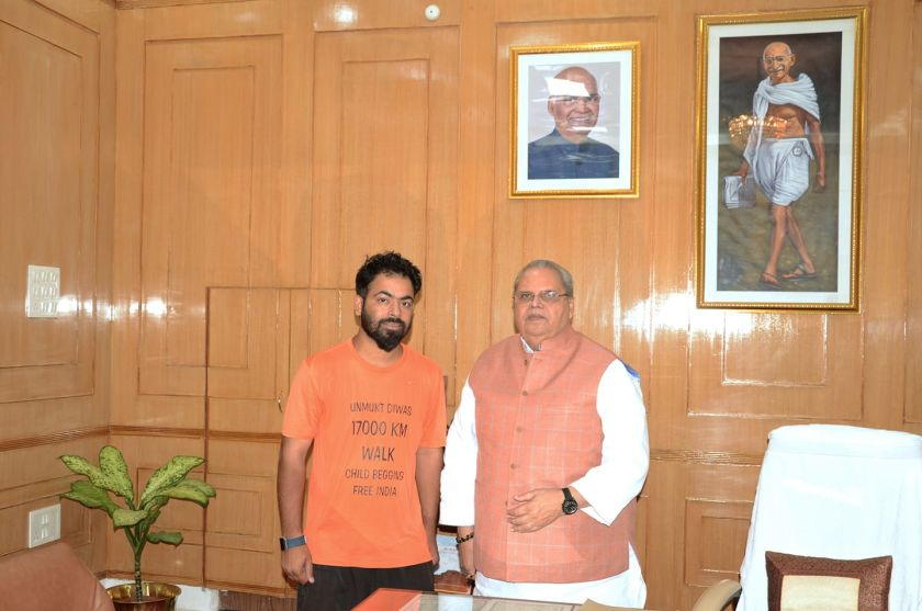 Ashish sharma with governer of Bihar