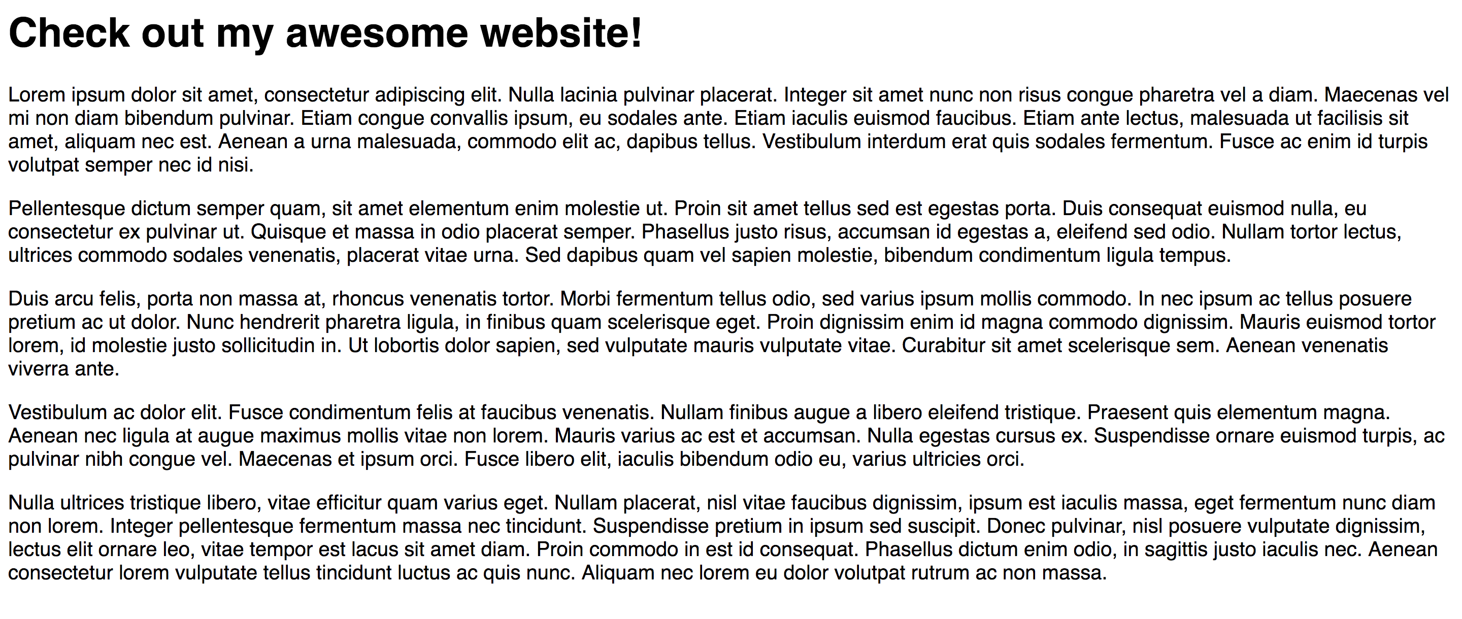 The example website using Helvetica Font (commonly found on many computers) — check [this](https://css-tricks.com/snippets/css/system-font-stack/) link for common system fonts