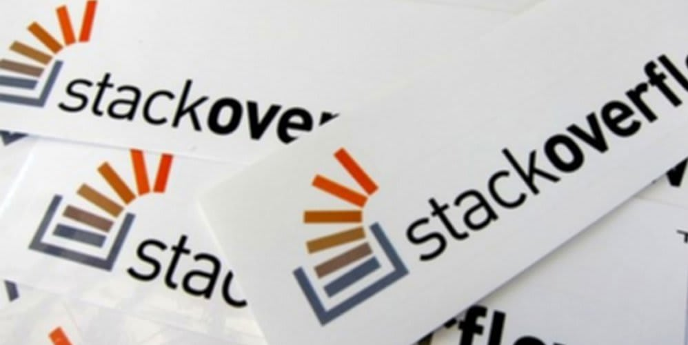 stackoverflow stickers with and brand logo and name text