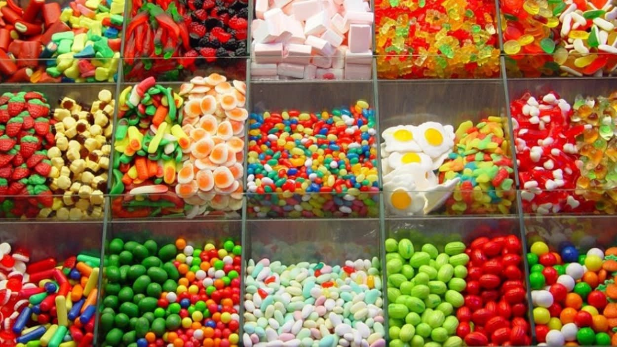 Photograph of sweets in a Pick 'n' Mix display