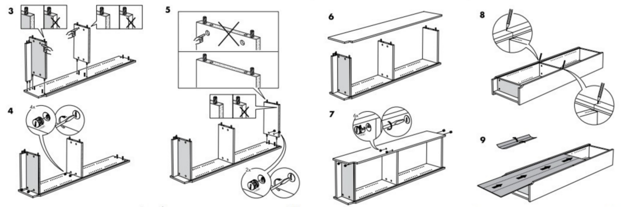 Illustration of The instructions and guidance for a Flatpack