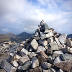 Rock stack on the summit