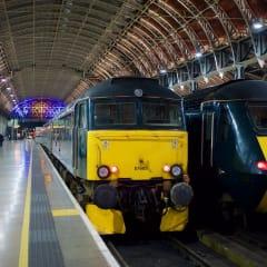 Night Riviera Sleeper stationed at Paddington station