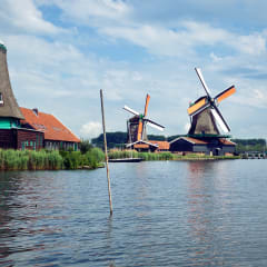 Historic windmills of Zaanse Schans.