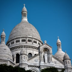 Close up of Sacré-Cœur Basilica.
