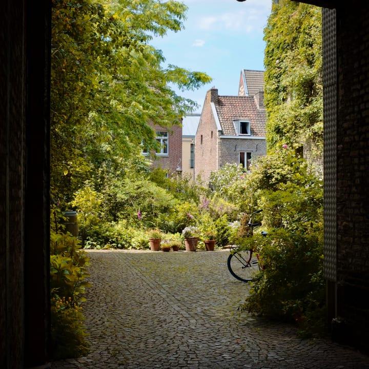 View into a Dutch garden.