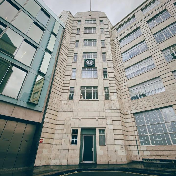 Art Deco building on Exeter Street, London.