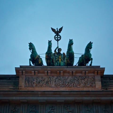 Quadriga atop the Brandenburg Gate.