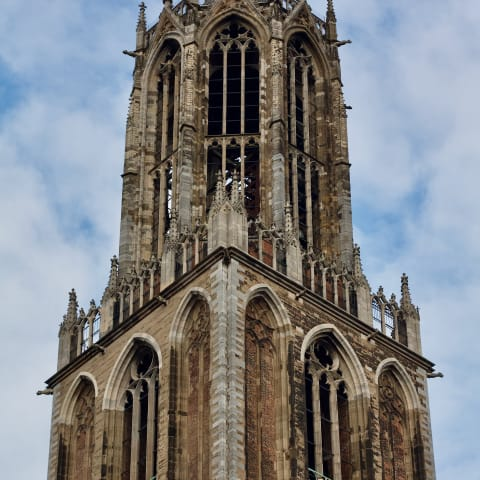 Close up of Dom Tower.